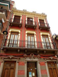 Fachada principal del Casino de Mazarrón. P. RUBIO